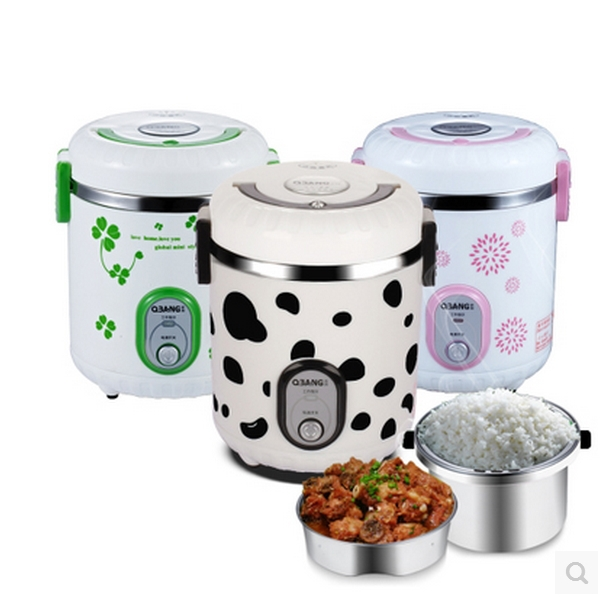 QBANG mini rice cooker steaming pot steaming rice cooker multifunction students fast cooking flavor cooking(China (Mainland))