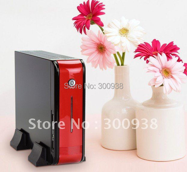 DHL/EMS Free Shipping Mini PC Desktop Computer With AMD Athlon N330 Dual-core 2.3Ghz Processor 2G Ram 320G HDD Wifi Win7 OS HDMI