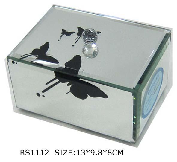 Fu1112 gespiegeld meubilair mirrroed sieraden doos venetiaanse spiegel doos in verpakking - Meubilair van de ingang spiegel ...