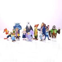 12pcs/set New movie Zootopia action figures 4-8cm high quality pvc models Judy rabbit Nick Fox kids gift