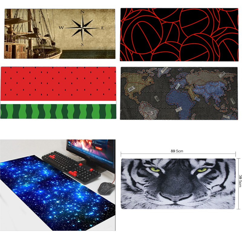 New Prints Rubber 890x400mm Colorful Extended Gaming Wide Large Mouse Pad Big Size Desk Laptop Keyboard Mat XL Size(China (Mainland))