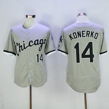 2016 #1 Adam Eaton #8 Bo Jackson #14 Paul Konerko Mens stitched jersey throwback color black white gray baseball jerseys(China (Mainland))