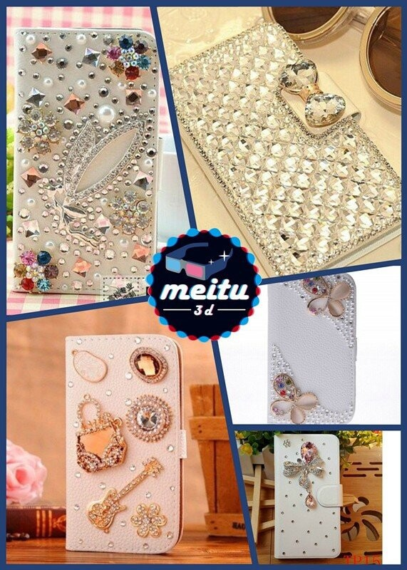 New luxury colorful butterflies Bling Diamond guitar style leather for Samsung Star Deluxe Duos S5292 phone case(China (Mainland))
