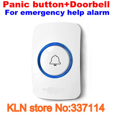 Door Bell or Panic Button Wireless 433mhz as Emergency Call Button for Elderly Help Alarm.-KLN(China (Mainland))