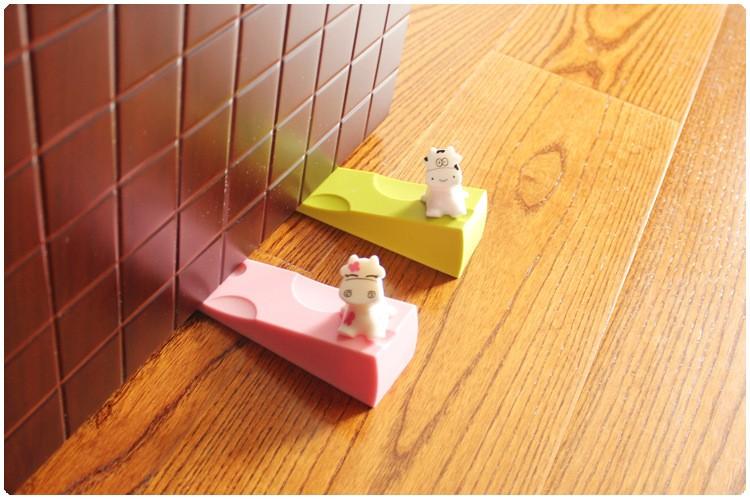 Cow cartoon child safety door stop baby splines creative windproof door plug of silica gel TAQ34