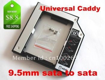 SATA to SATA 2nd HDD HD HARD DRIVE 9.5mm Universal Caddy CD/DVD-ROM Bay