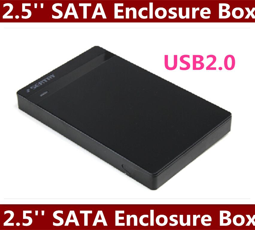 """High Quality 5pcs/lot 2.5"""" USB 2.0 external HDD Case Hard Drive disk SATA Enclosure Box Free shipping(China (Mainland))"""