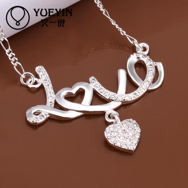 N309 hot brand new Promotion Factory Cheap Price fashion popular 925 Silver chain women necklace jewelry(China (Mainland))