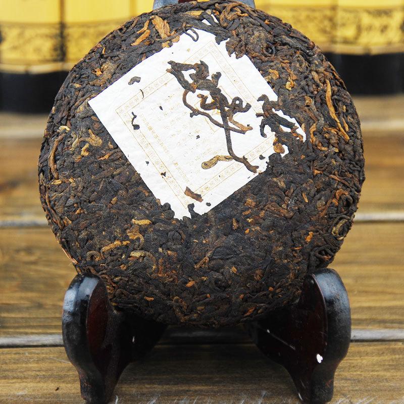 Instock Freeshipping jishunhao ripe cake 100g tea cooked pu er 100 PU er cooked tea cake