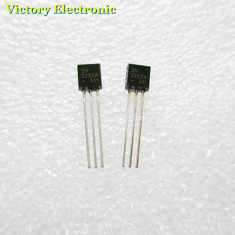 100PCS/LOT in-line 2N2222A triode transistor NPN switching transistors TO-92 0.6A 30V NPN 2N2222(China (Mainland))