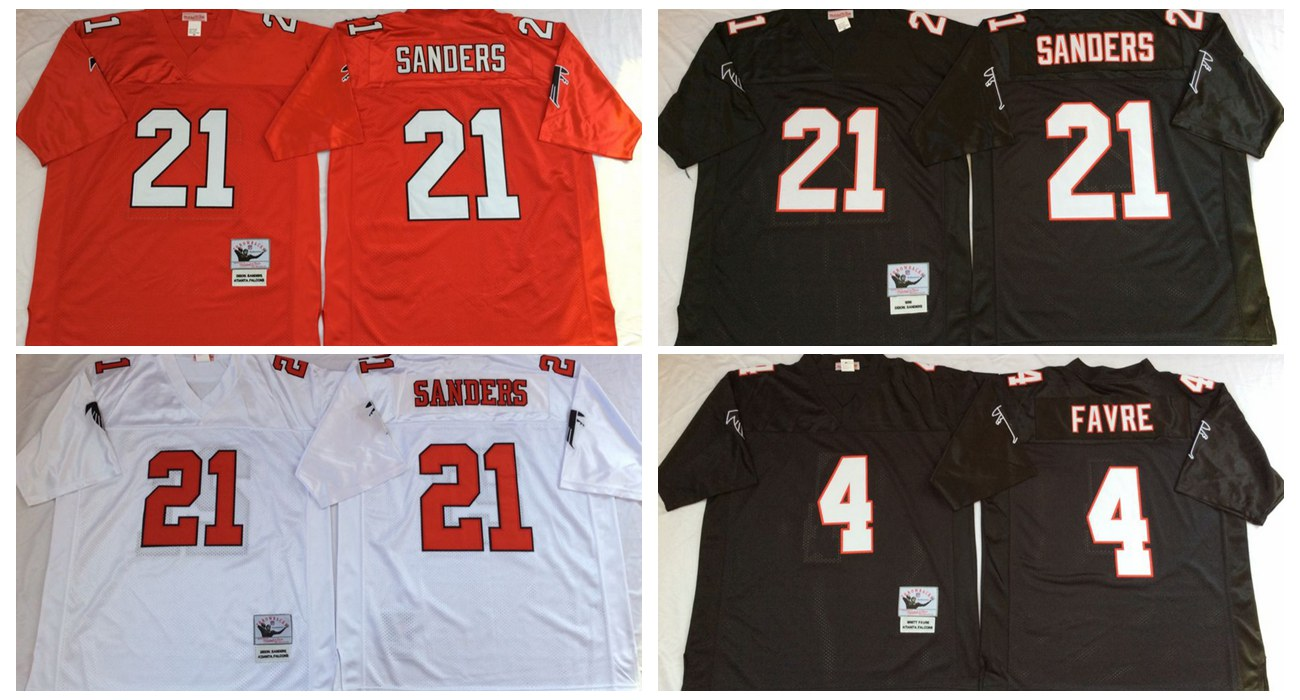 Top quality For Mens,Vick Deion Sanders brett favre Throwback for men Free Shipping stitched Falcon(China (Mainland))