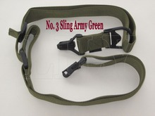 Free shipping high quality High strength No.3 Hunter Tactical rifle sling Army Green gun with quick release buckle hunting sling