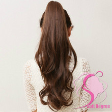 """Soft Degree Hair 2014 Sale Limited Clip-in Light Brown Wavy / 22"""" Wave for Pony Tail Extension Piece(China (Mainland))"""
