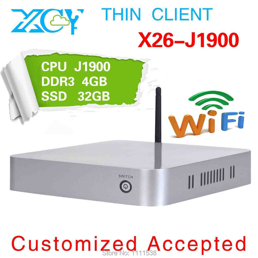 POS Computer embedded win7 server mini pc X26-J1900 network quad-core 4g ram 32g ssd build-in-wifi support external hard disk(China (Mainland))