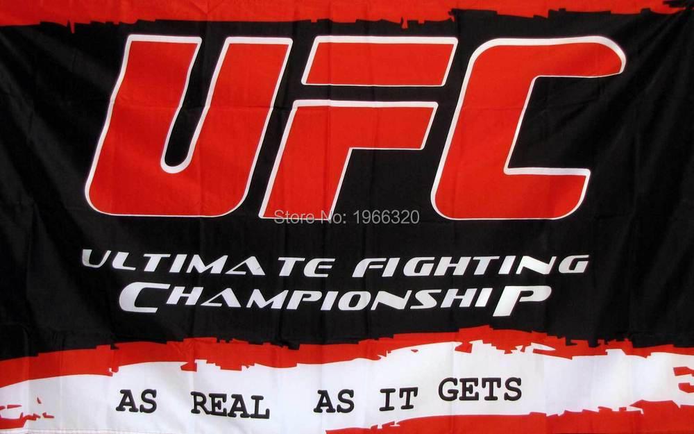 UFC RED BLACK ULTIMATE FIGHTING CHAMPIONSHIP Banner Flag 3X5 Custom flag(China (Mainland))