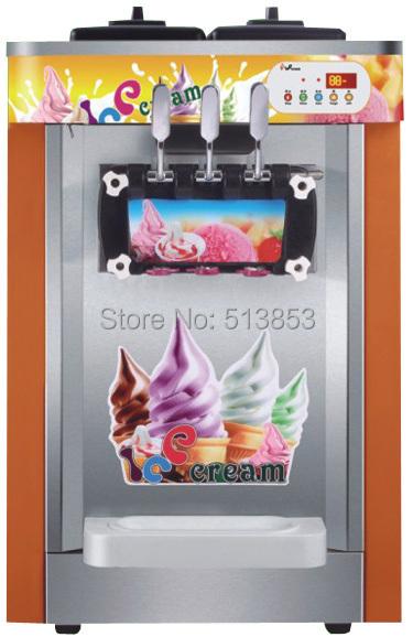 Brand New 3 head table top soft ice cream machine yogurt machine 220V/50 HZ(China (Mainland))