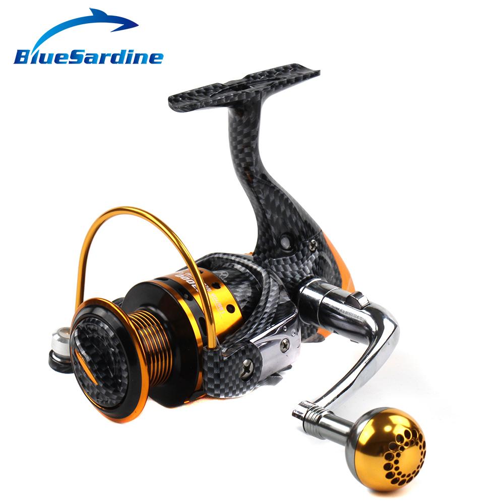 BlueSardine 12+1BB 5.2:1 Full Metal Spinning Fishing Reel Peche Fish Wheel Spinning Reel Coil Fishing Tackle(China (Mainland))