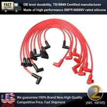 8mm Universal Male Red Spark Plug Wires Suits Suits Chevy(China (Mainland))