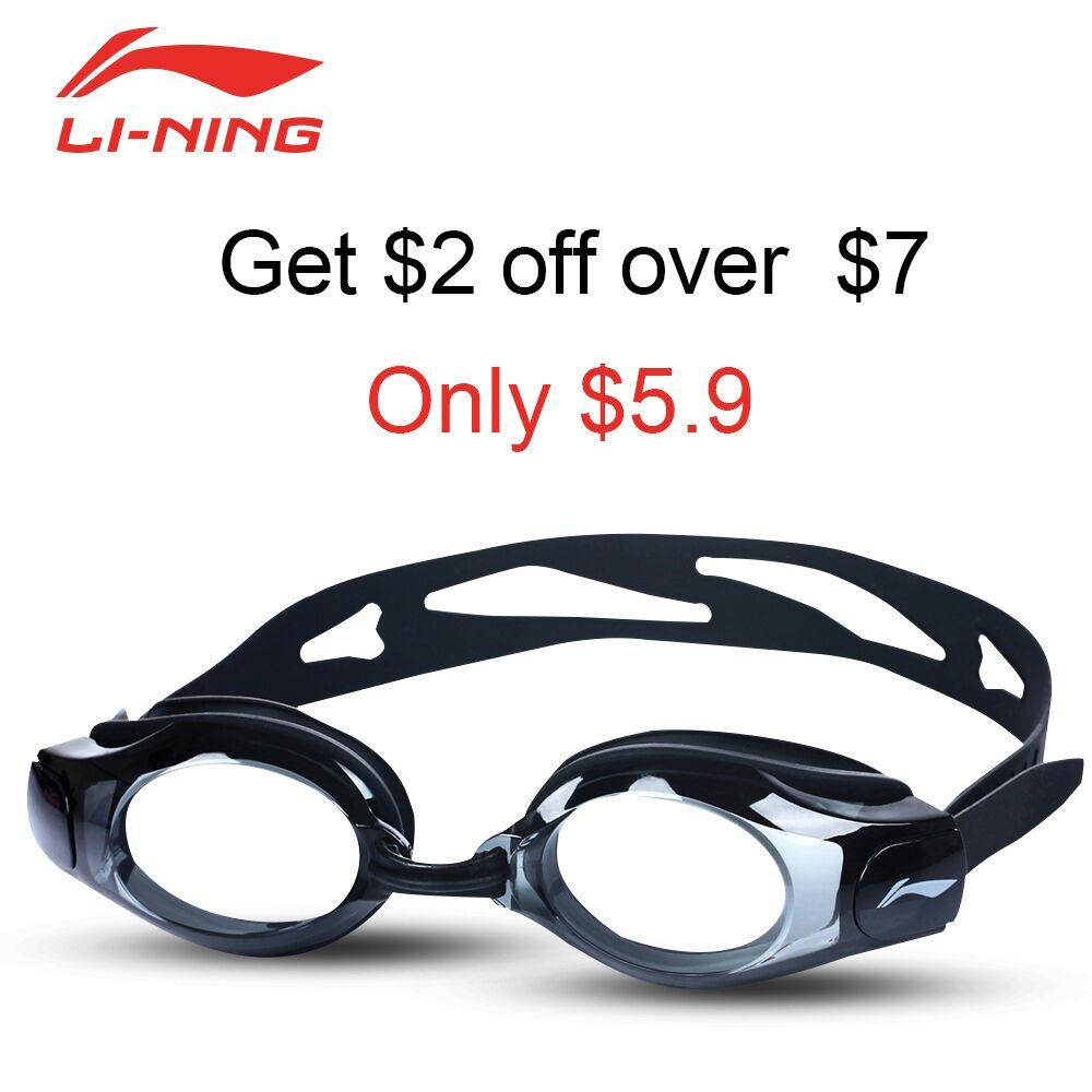 LI-NING Anti-fog Anti-ultraviolet Swimming Goggles Men Women Super Waterproof Adjustable Swimming Glasses Swim Gafas LSJK508-1(China (Mainland))