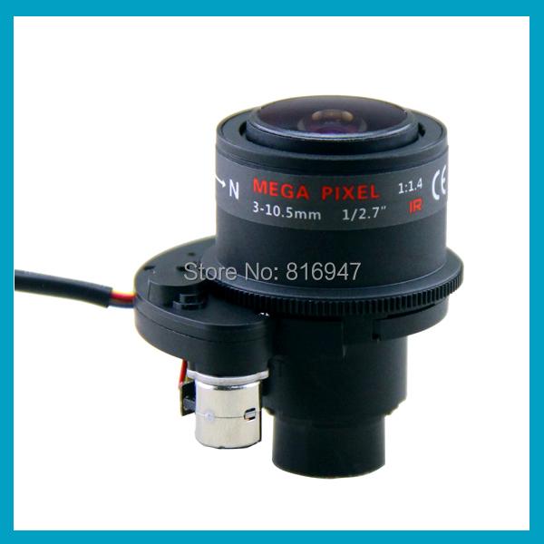 RICOM 3-10.5mm Fixed-Iris CCTV LENS for ip cameras, M14 count, NV03105FB.IR-MFZ-B, electric lens.<br><br>Aliexpress