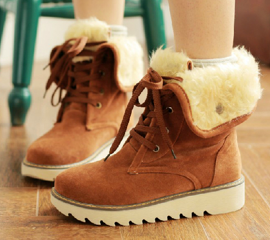 winter boots 2015 fashion women boots shoes women casual ankle boots Matte suede snow boots cotton padded high warm platform(China (Mainland))