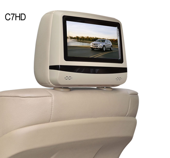 For LSQ STAR 7 inch headrest DVD player/Monitor with touch buttons SD/USB/3G/dvd/mp4/mp5 for all the car