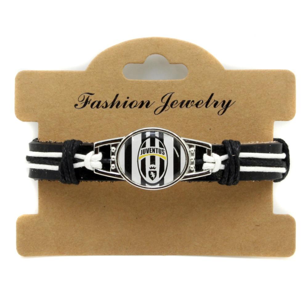 Genuine leather bracelet Juventus Football team bracelet Italy sports fans gift(China (Mainland))