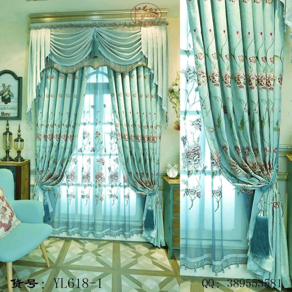 Blue sheer curtains