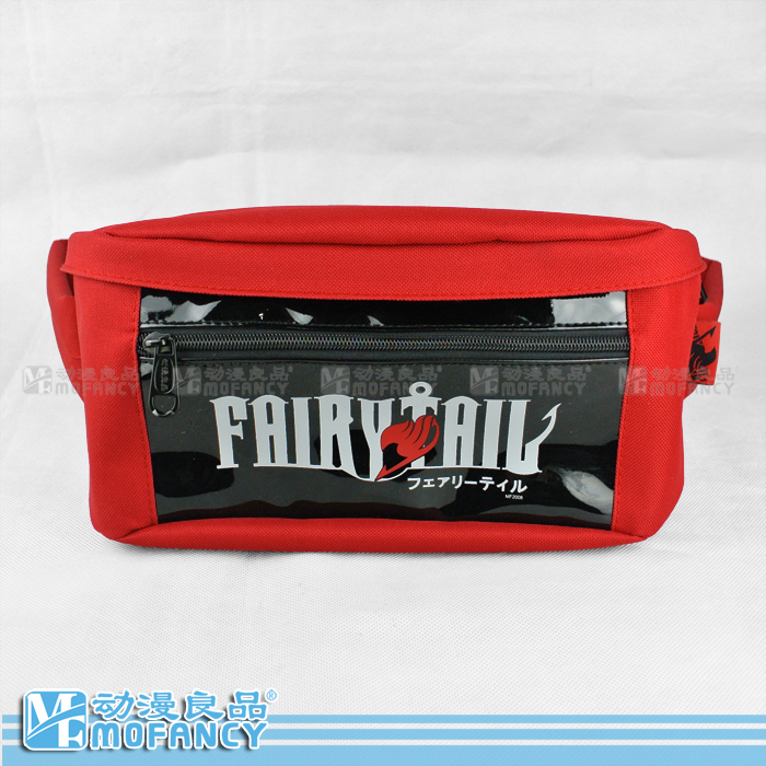 Fashion Anime Japan Style Fairy Tail Arrival Summer casual men's black match red bicycle capacity key Messenger bag(China (Mainland))