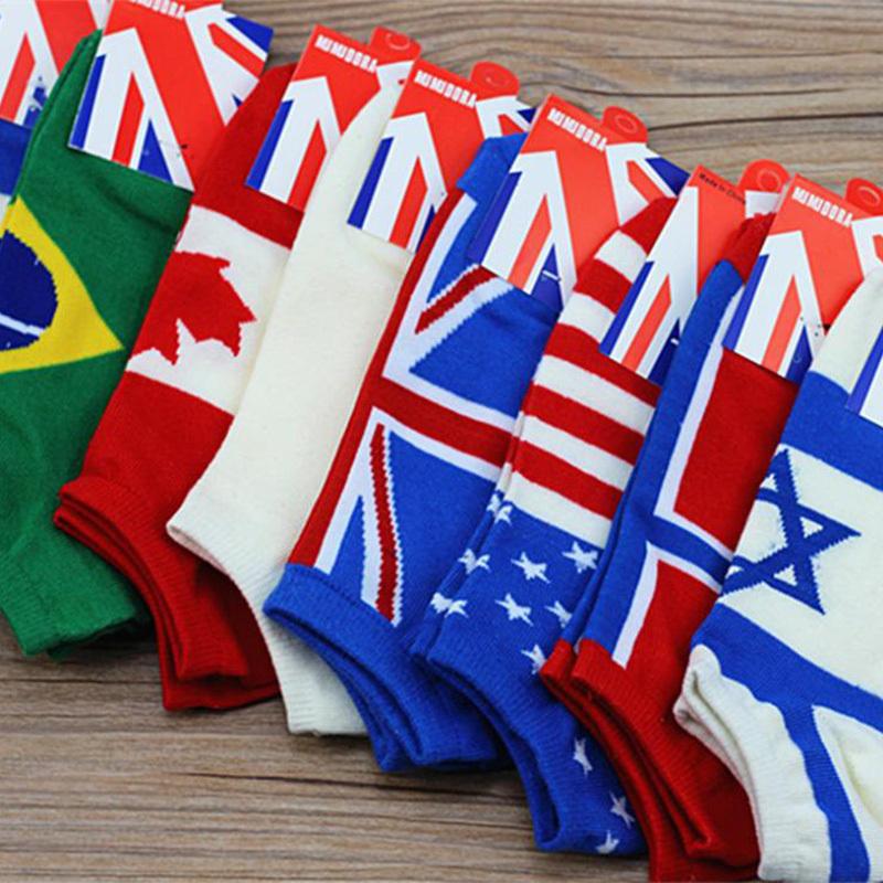 2016 new HOT Cotton brand man socks USA UK Israel Brazil Norway Japan Canada Flag socks meias men's socks spring calcetines(China (Mainland))