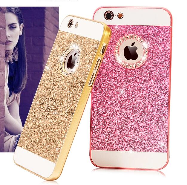 Luxury Cell Phone Case Bling Diamond Sparkle Glitter Protective Cover For iPhone 5S 6S 6 Plus(China (Mainland))