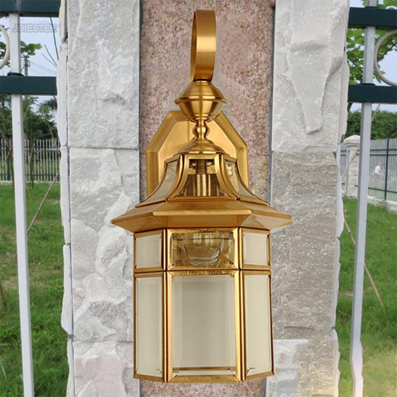 Outdoor Copper Lamp Art Wall Lamps Waterproof For Living Room Garden Balcony Bedroom Courtyard Villa Light Fixtures 1699(China (Mainland))