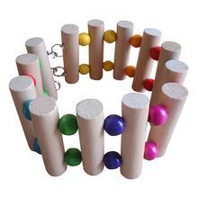 1 pz 3 formati flessibile giocattoli di legno scala hanging bridge shelf cage accessori per ratto topo hamster parrot(China (Mainland))