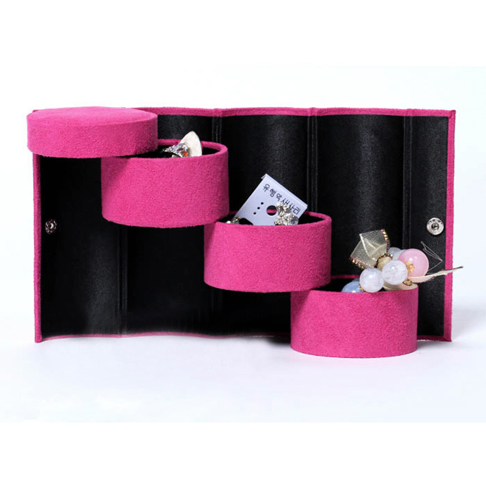 New Hotsale Promotion Bracelet Ring Necklace Earring Jewellery Display Stand Case Storage Travel Box(China (Mainland))