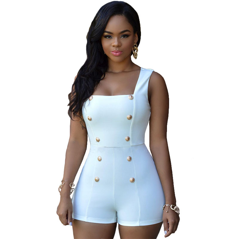 Perfect 2016 Fashion Rompers Womens Jeans Jumpsuit Short Sleeve O Collar Jumpsuits De