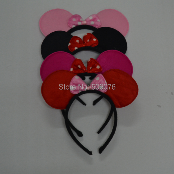 Free shipping 50pcs/lot Minnie mouse Party Children Accessories Mickey Mouse headwear birthday party decorations kids(China (Mainland))