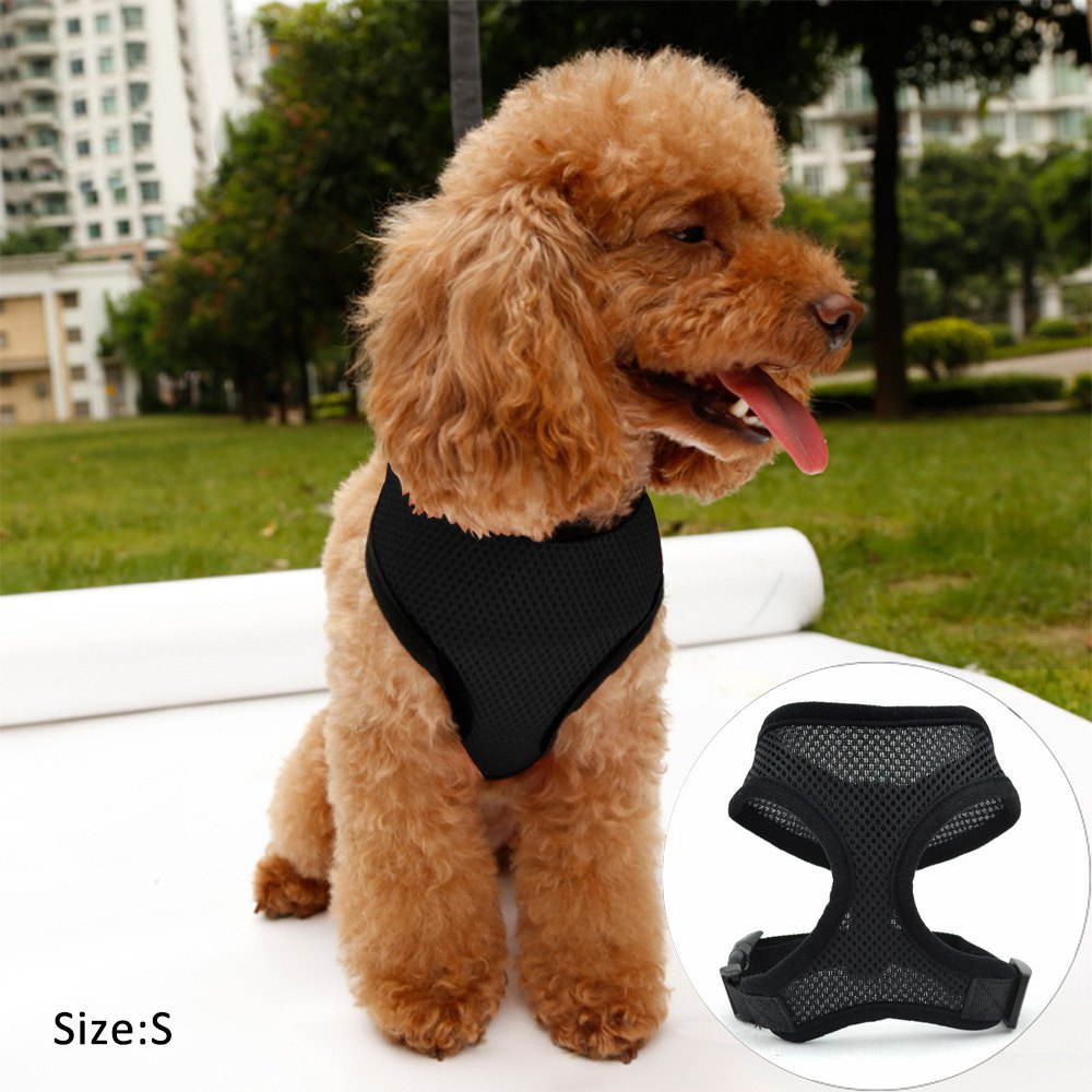 Cute Comfort Adjustable Dog Collar Leads Chest Harness Strap Pet Puppy Cat Mesh Vest Soft Breathable Collar Leads Harness(China (Mainland))