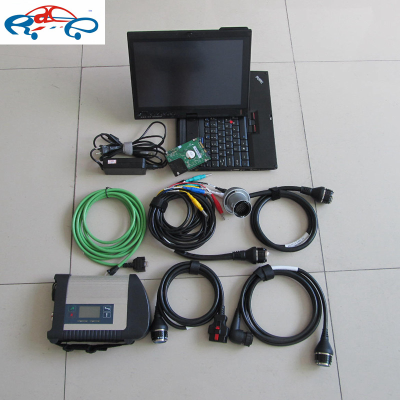 2016 Mb star c4 sd connect 4 wifi c4 with touch screen laptop x200t (2g ram)+ 2016.07 newest software full set best quality(China (Mainland))