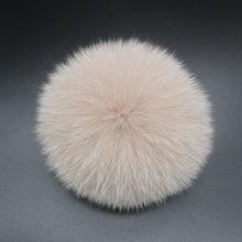 DIY 14 cm big Fox Fur pompons bolas de Pêlo Macio para o chapéu de malha tampão do inverno gorros chaveiro e lenços real poms do pom da pele(China)