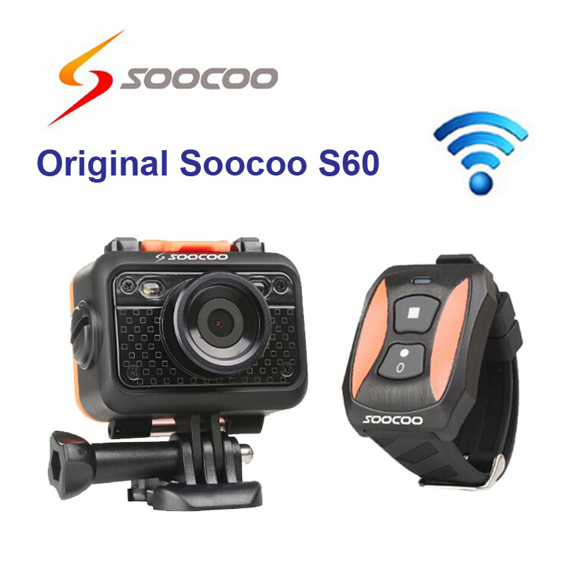 Original SOOCOO S60B Wifi Sport Action Camera Anti-Shock 60M Waterproof 1080P Full HD 170 Degree Lens Wireless Remote Control(China (Mainland))