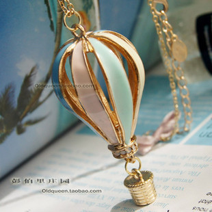 MIN ORDER 10 New Arrival Hot Selling Colorful Hot Air Balloons Long Necklace Sweater Chain