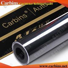Carbins Film High Glossy Black 5D Carbon Fiber Vinyl Wrap Film Black 1.52*20m Custom Car Stickers(China (Mainland))