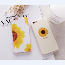 Sunflower Plaid Prints New Fashion Case for Apple iPhone 6 6s plus 6splus Cover PC Frosted Hard Cell Phone Case D287