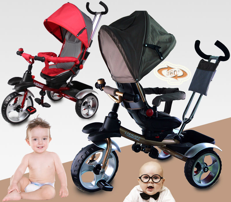 KID CHILD BABY TODDLER TRIKE TRICYCLE RIDE ON TOY 3 WHEEL PARENTAL CONTROL CAR(China (Mainland))