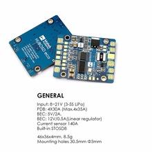 Matek HUBOSD eco H Power distributon board HUB OSD PDB CURRENT SENSOR W/ BEC 5V &12V For QAV210 QAV R 220 FPV Racing Mini Drone