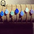 Mix Colors 18k Gold Hamsa Opal Bracelet Silver plated Hamsa Opal Bracelet Hamsa Opal Bracelet for