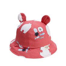 หมวกเด็กน่ารักสำหรับสาวการ์ตูนเด็กหมวกหูฤดูใบไม้ผลิฤดูใบไม้ร่วงเด็กหมวกผ้าฝ้ายหมวกเด็...(China)