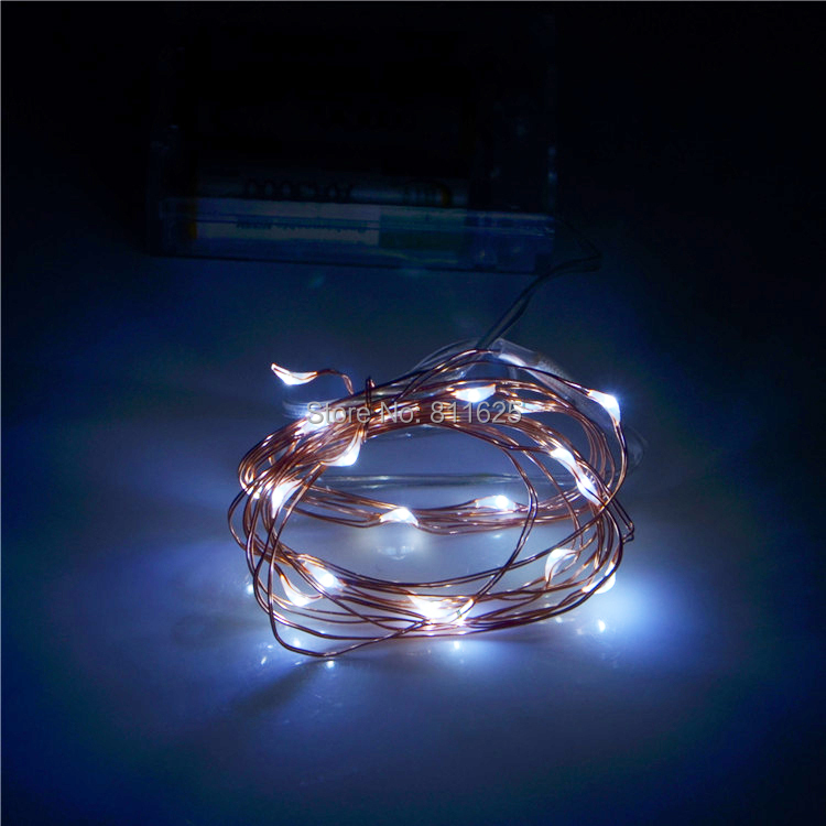 Hot sale ! 5pcs/lot 8 colours 2M 20 Lights Holiday LED Battery String Lights,X'mas Decoration Fairy Light With Copper Wire(China (Mainland))