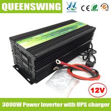 Queenswing инвертор 3kw / 3000 Вт DC12V AC220V с ибп зарядное устройство и цифровой дисплей ( QW-M3000UPS )