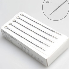50PCS Lowest Price Durable 7RL Professional Tattoo Machine Stainless Steel Sterile Disposable Tattoo Needle(China (Mainland))